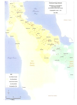 mapping- congregations in region